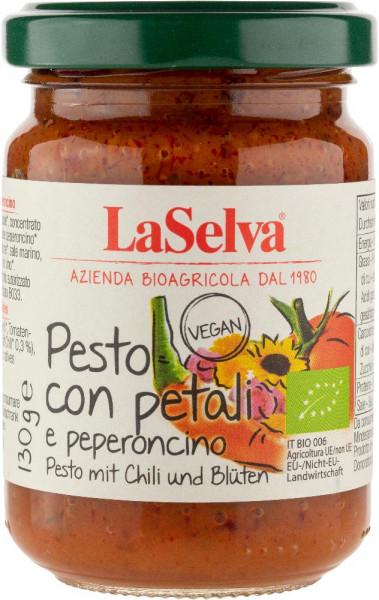 Pesto mit Chili und Blüten - Tomaten Würzpaste - 130g