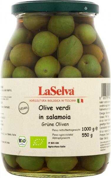 Grüne Oliven in Salzlake - 1kg