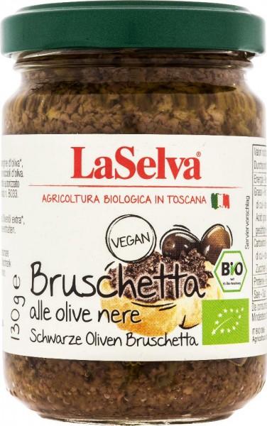 Schwarze Oliven Bruschetta - Zubereitung aus schwarzen Oliven - 130g