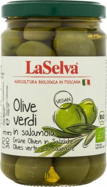 Grüne Oliven mit Stein in Salzlake - 310g