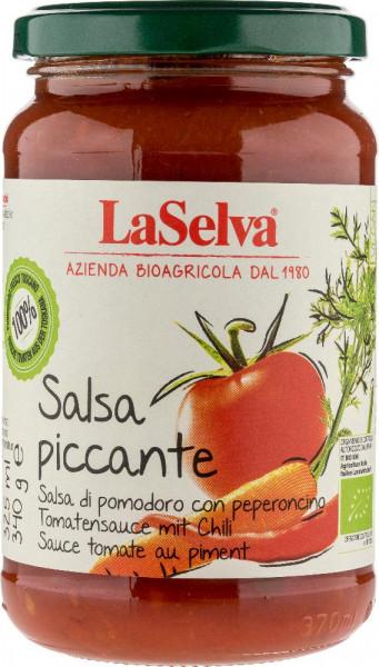 Salsa piccante - Tomatensauce mit frischem Gemüse und Chili - 340g
