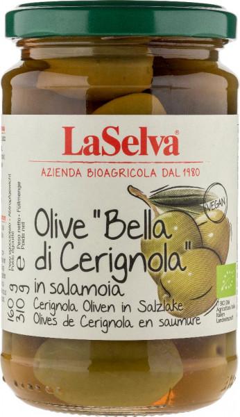 "Olive ""Bella di Cerignola"" - Cerignola Oliven mit Stein in Salzlake - 310g"