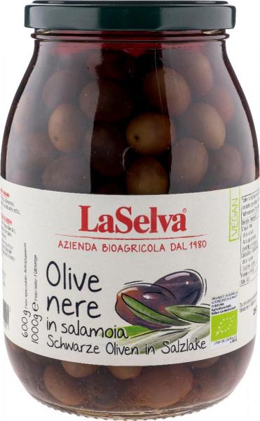 Schwarze Oliven in Salzlake - 1kg