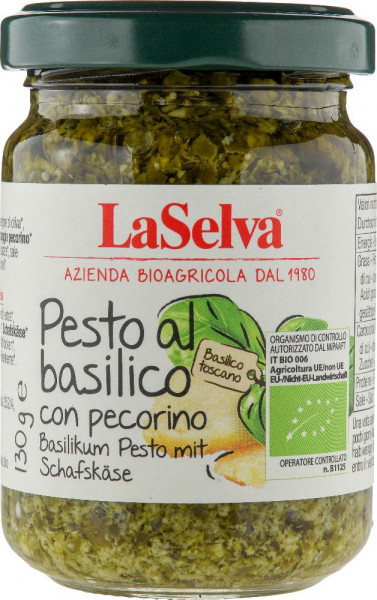 Basilikum Pesto mit Schafskäse - Basilikum Würzpaste - 130g