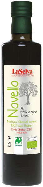 Unfiltriertes, extra natives Olivenöl - 100 % aus Italien - 0,5l