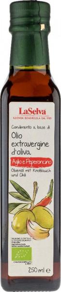 Olivenöl mit Knoblauch und Chili - Zubereitung aus nat.Olivenöl extra - 250ml