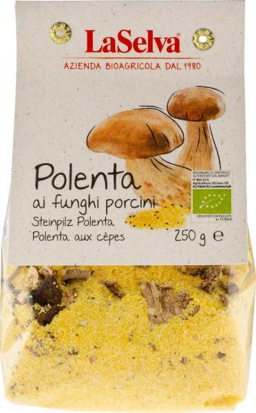 Steinpilz Polenta - Zubereitung aus Maismehl und Steinpilzen - 250g