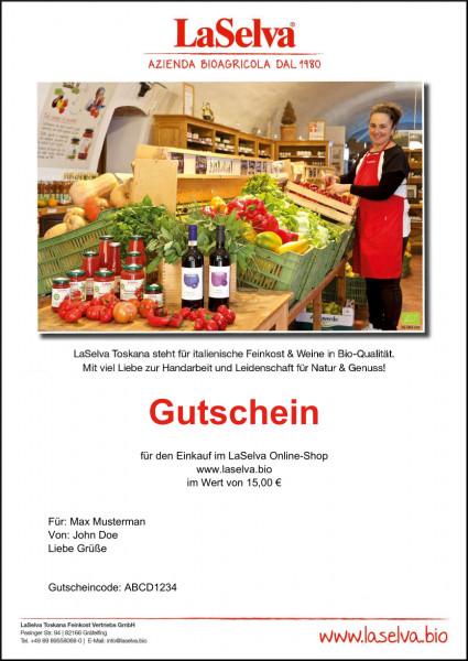 15 Euro Print-Gutschein