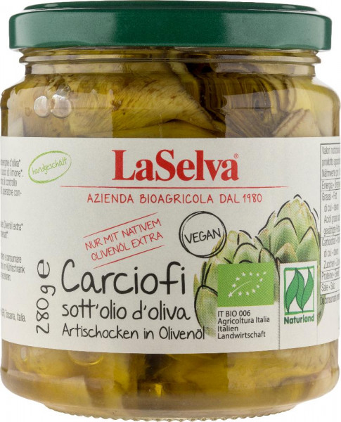Artischocken in Olivenöl - 280g