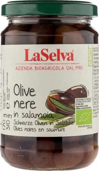 Schwarze Oliven mit Stein in Salzlake - 310g