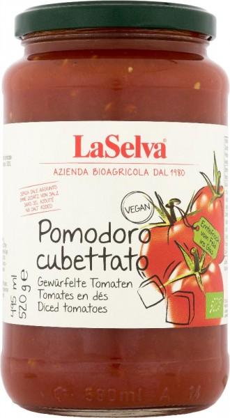 Pomodoro cubettato - Gewürfelte Tomaten - 520g