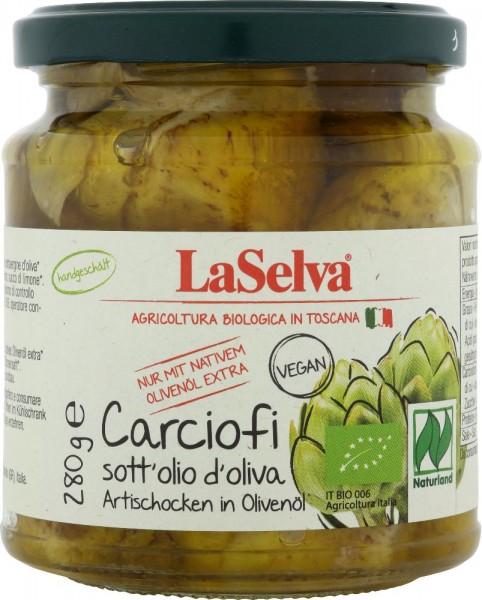 Artischocken in Olivenöl - handgeschält - 280g