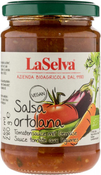 Tomatensauce mit Gemüse - Salsa Ortolana - 280g