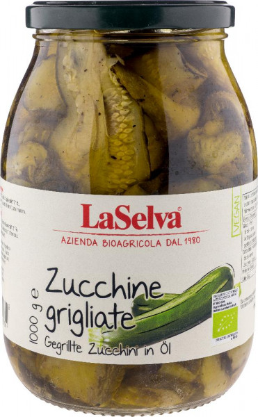 Gegrillte Zucchini in Öl - 1kg
