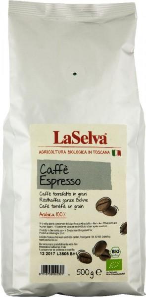Caffè espresso - Röstkaffee ganze Bohne 100% Arabica - 500g