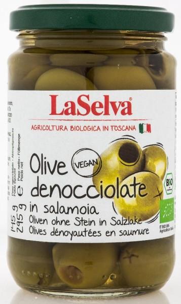 Grüne Oliven ohne Stein in Salzlake - 295g
