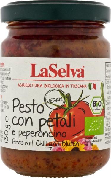 Pesto mit Chili und Blüten (Tomaten Würzpaste) - 130g