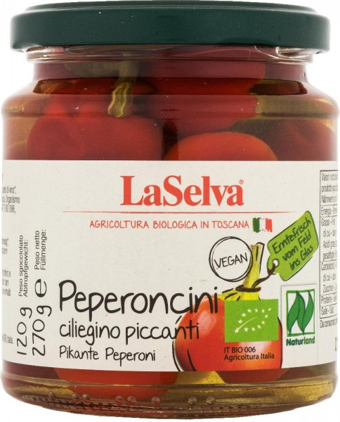 Pikante Peperoni, rot, in Weinessig - 270g