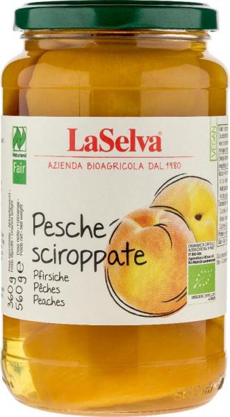 Pfirsiche in Stücken, leicht gezuckert - handgeschält - 560g