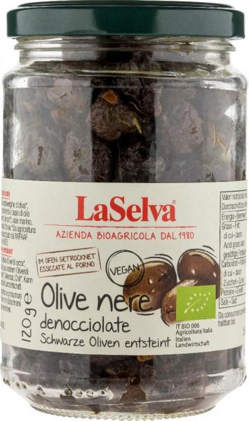 Schwarze getrocknete Oliven, entsteint - 120g