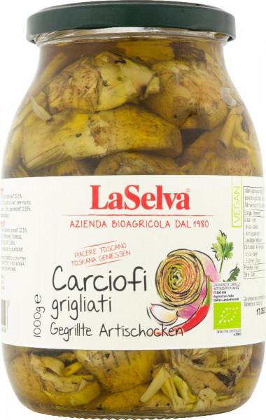 Artischocken gegrillt in Öl, mit Knoblauch und Peperoncini - 1kg